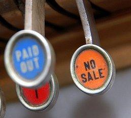 No Sale Key on Cash Register