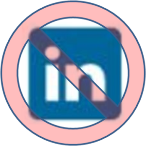 No Sign on LinkedIn Logo