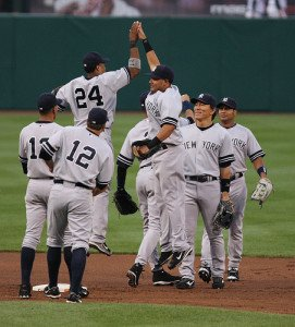 New York Yankees Celebrating