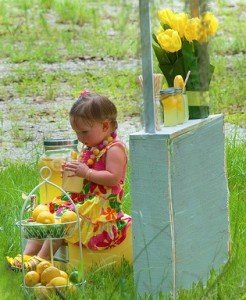 Little Girl at a Lemonade Stand