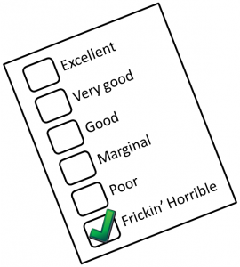 Feedback Checklist Horrible