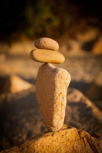 Rocks Balancing on Each Other