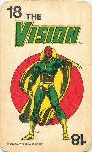 The Vision Superhero Card from Marvel Comics