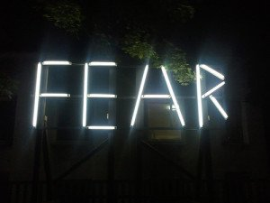 Fear Written With Lights