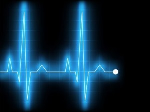 EKG Pulse Graph with Glowing Blue Line