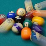 Billiards Balls in Motion at the Break