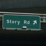 Story Road Sign