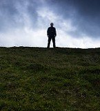 Man Silhouette on Summit