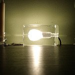 Lightbulb in a Glass Box on its Side