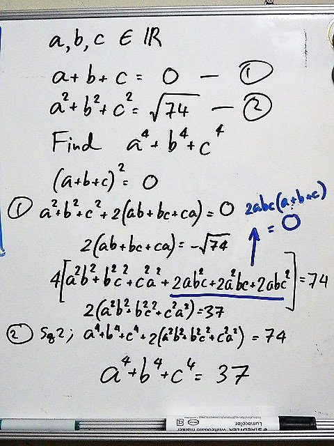 Math Problem on White Board