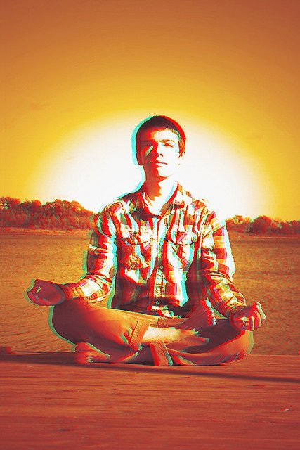 Man Sitting and Meditating