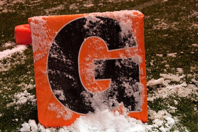 Goal Line Marker in Snow
