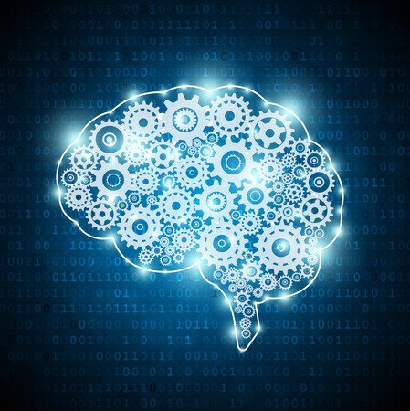 Artificial Intelligence Brain Combined With Machine
