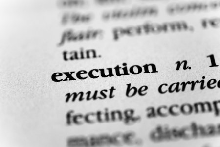 The Word Execution and its Definition