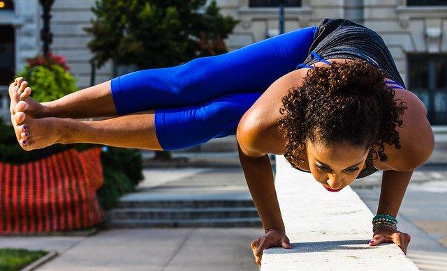 African American Woman Doing Yoga