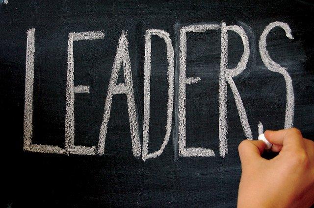 Leaders Written on Chalk Board