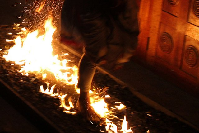 Man Walking on Hot Coals