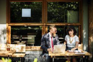 Outdoor Coffee Shop Meeting